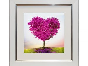 where love grows W50 x H50 Pink Heart Tree Landscape Artwork