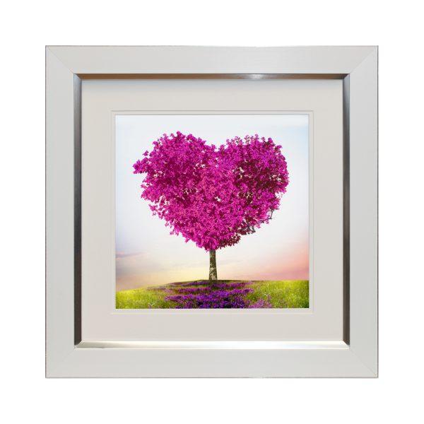 where love grows W50 x H50 Pink Heart Tree Landscape Artwork