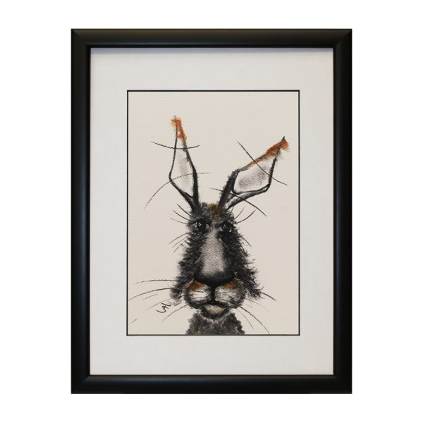 William W33 x H43 Abstract Hare Bunny Rabbit Portrait Artwork