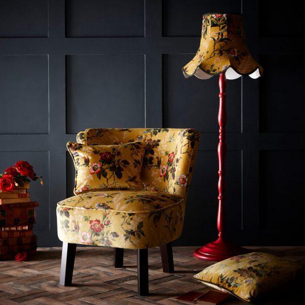 Leighton ochre monika chair