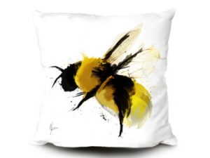 scruffy bumblebee cushion
