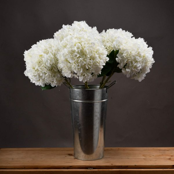 Oversized Faux White Hydrangea