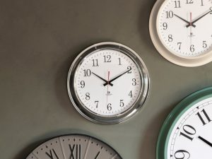 Bucharest Chrome Wall Clock W41 D8 H41