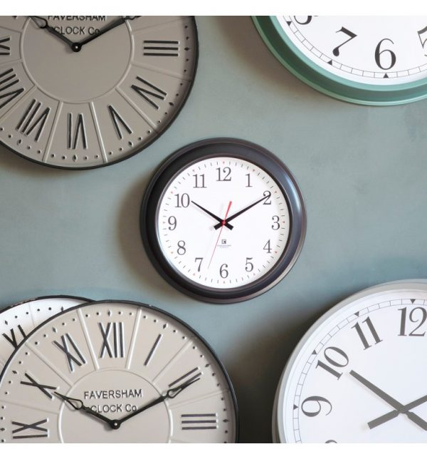 Bucharest Grey Wall Clock W41 D8 H41
