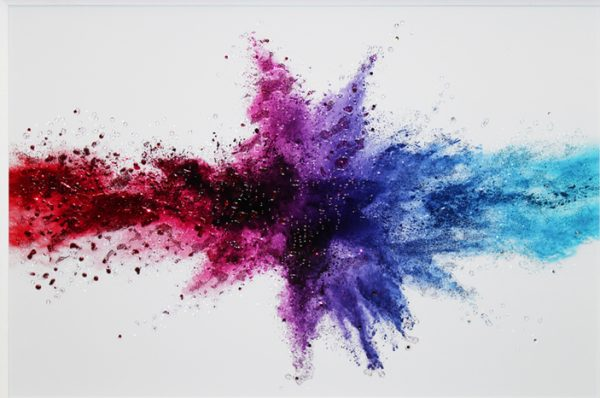 Collide - Framed Colour Splash Collision Liquid Art 84 x 114cm