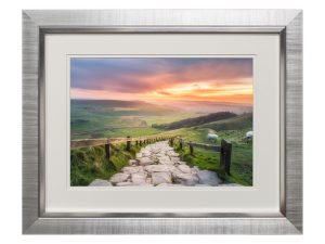Dawn Rise Sunrise Sunset Dusk Rural Countryside Landscape Framed View 59.5 x 49cm