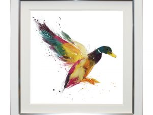 Duck and Cover Rainbow Abstract Framed Artwork 69 x69cm