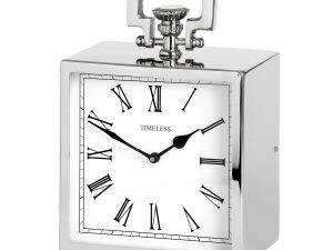 Emily Nickel Table Clock W21 D12 H28