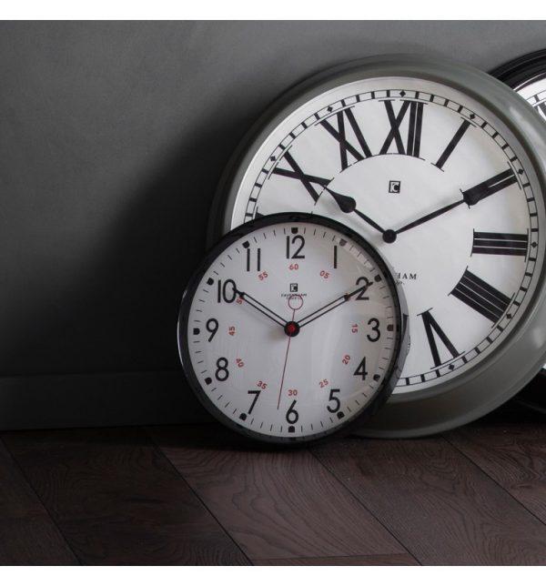 Kampala Black Wall Clock W30 D6 H30