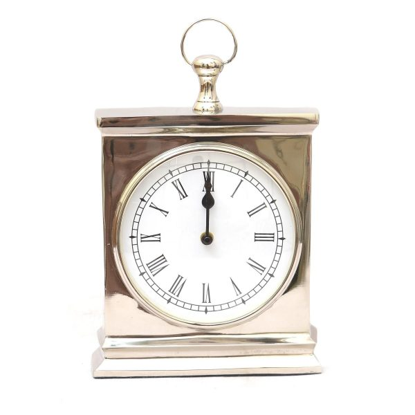Maude Silver Roman Numeral Mantel Clock