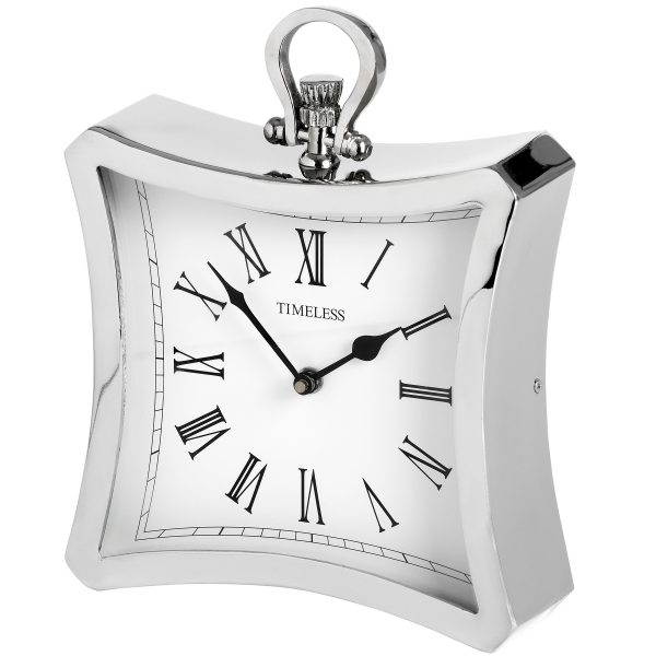 Mountsfield Silver Mantel Clock