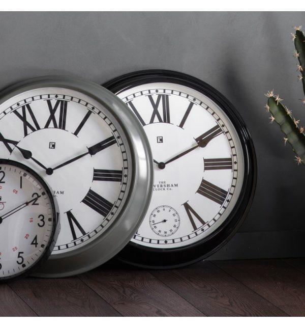 Paris Black Roman Numeral Wall Clock W52 D9 H52