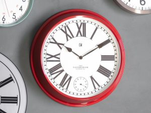 Paris Red Roman Numeral Wall Clock W52 D9 H52