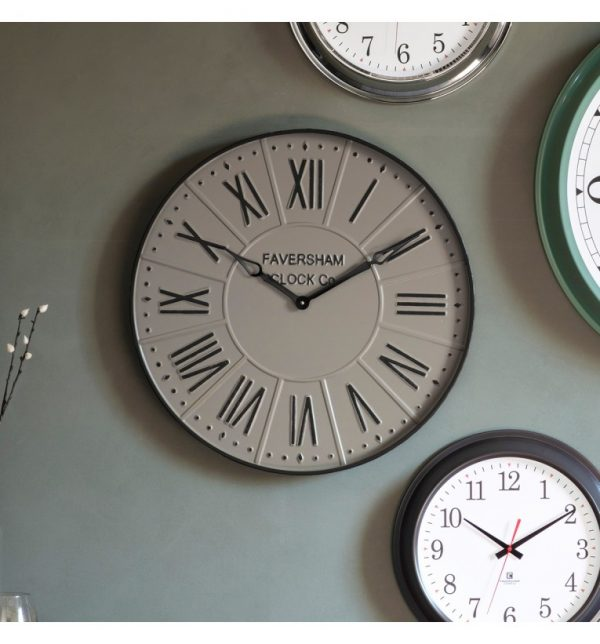 Rome stone wall clock with roman numerals W60 D5 H60