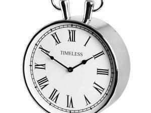 Sally Chrome Mantel Clock W30 D22 H50