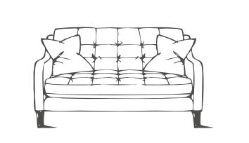 Madeira 2 seater sofa line drawing