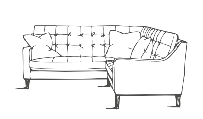 Maderia Corner Sofa Line Drawing