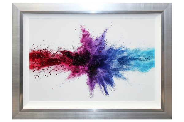 Sopha Collide Framed Liquid Art Multicoloured Print
