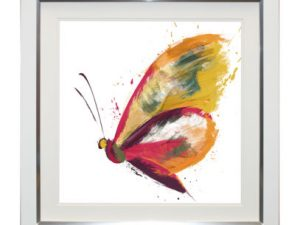 Abstract Butterfly Framed Artwork 69x69cm