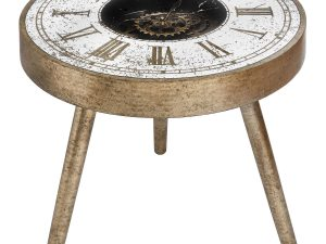 Ticking Lamp Coffee Roman Numeral Clock Table W60 D60 H55