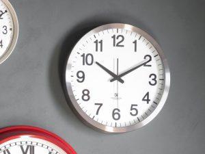 washington chrome wall clock W40 D5 H40