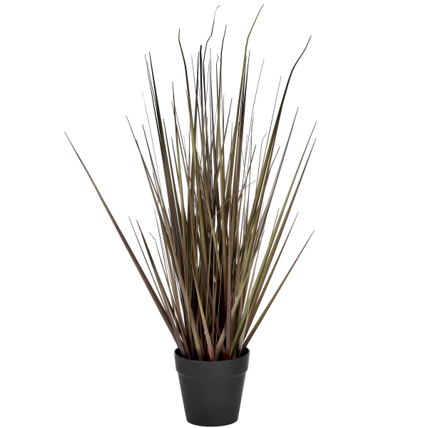 faux spray grass in pot