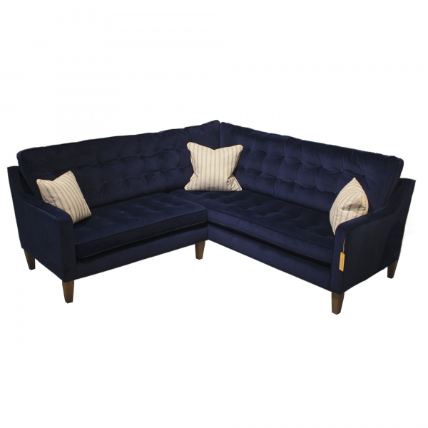 Madeira corner sofa in Amalfi Dark Blue Velvet