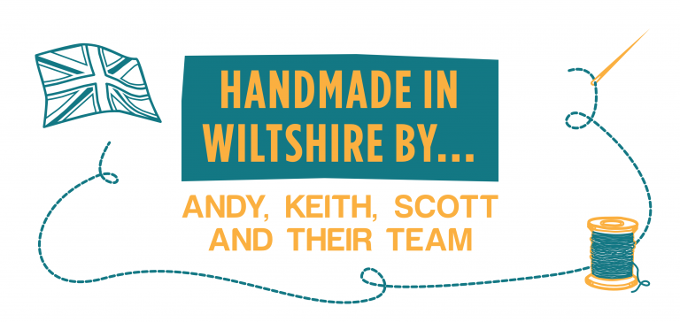 Handmade in Wiltshire by Andy, Keith, Scott & The Team