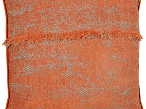 Rusted orange Fringed Cushion