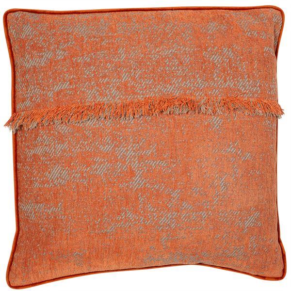 Rusted orange Fringed Cushion