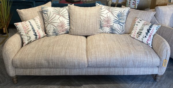Biscotti Extra large pillow back sofa in Fabric Grade C Ashcroft Blush