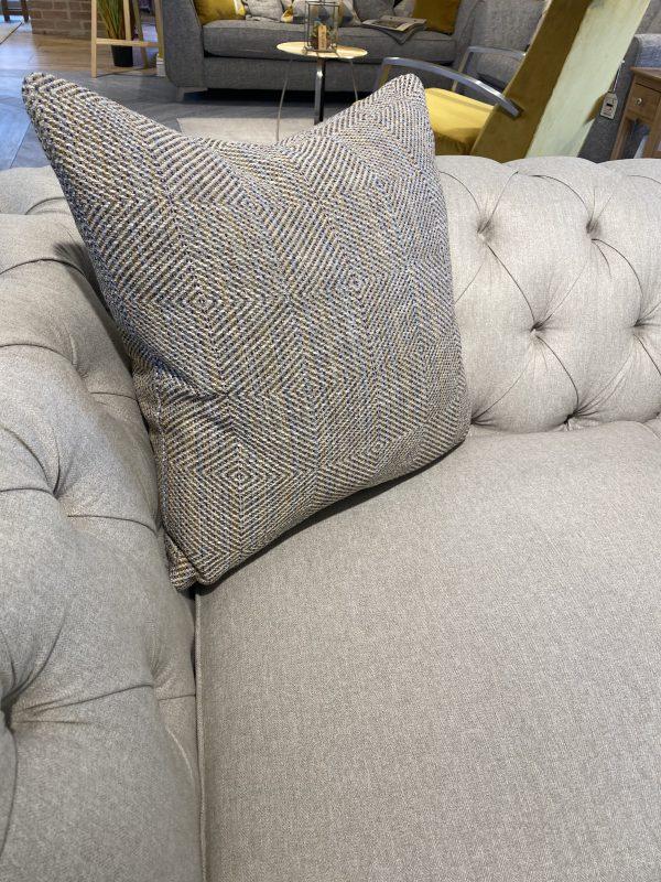 large popcorn sofa cushion in (Malia) - Teal