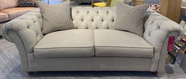 large popcorn sofa in Tweed (Wool Blend) - Ecru