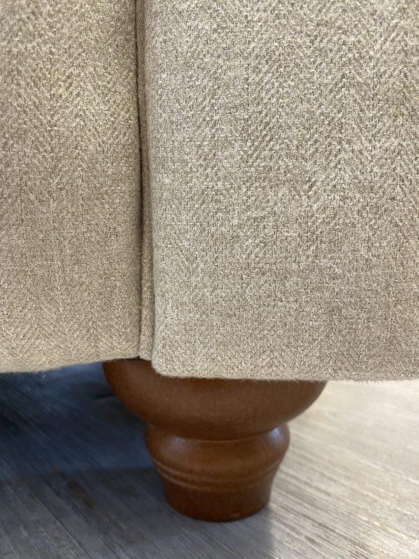 Popcorn sofa leg in medium finish