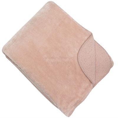 light pink Shetland Fleece throw 150x200