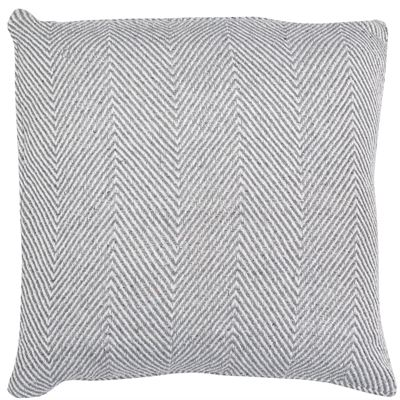 Silver chevron woven cushion 45x45