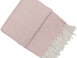 Pink Chevron Throw 130x180