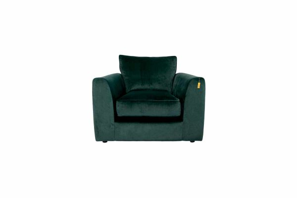 Gateaux Arm Chair in Malta Jasper Velvet