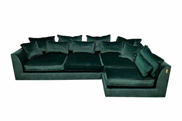 Gateaux LHF Combi Corner Sofa in Malta Jasper Velvet
