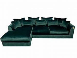 Gateaux LHF Large Chaise Corner Sofa in Malta Jasper Velvet