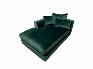 Gateaux Modular LHF Chaise Sofa Module in Malta Jasper Velvet