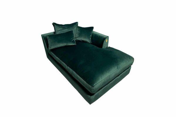 Gateaux Modular RHF Chaise Sofa Module in Malta Jasper Velvet