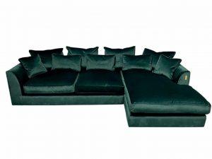 Gateaux RHF Large Chaise Corner Sofa in Malta Jasper Velvet