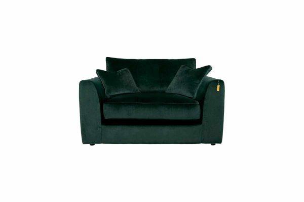 Gateaux Snuggler Sofa in Malta Jasper Velvet