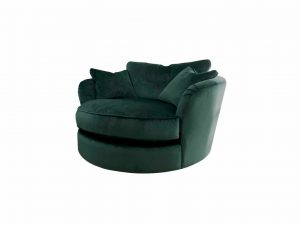Gateaux Swivel Cuddler in Malta Jasper Velvet