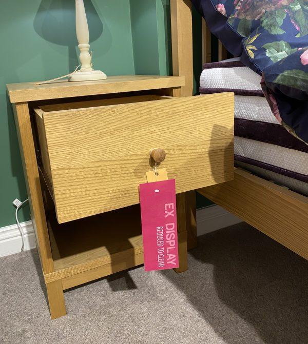 thyme oak 1 drawer nightstand