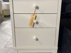 ex-display thyme vanilla 3 drawer nightstand