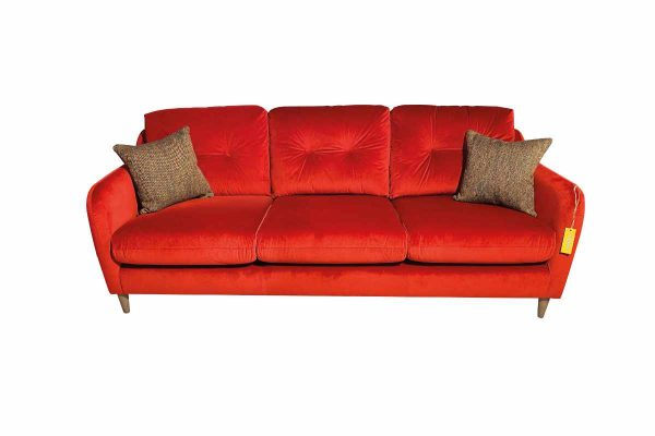 Macaroon Extra Large Sofa in Sunny Berry with Simine Crimson