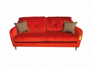 Macaroon Large Sofa in Sunny Berry with Simine Crimson