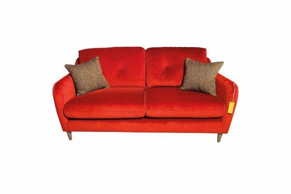 Macaroon Medium Sofa in Sunny Berry with Simine Crimson